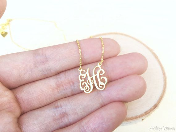 FLASH SALE FOR LIMITED TIME!!!  + NEW MONOGRAM COLLECTION +  ✿ Dainty Monogram Necklace is one of a kind jewelry that is perfect for you and