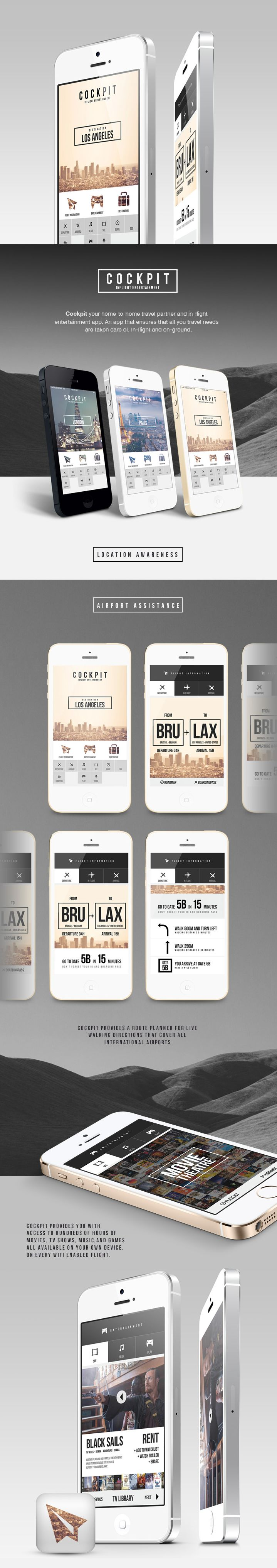 COCKPIT via #Behance #ui #app #design Want something like this? Contact us at ashley@firethorne.org Or visit our website at www.firethorne.org! #firethornefirm #mobile #design #ideas #inspiration