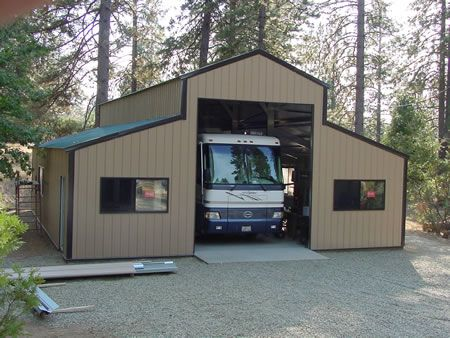 Make extra money woodworking rv storage barn plans arts for Rv shed ideas