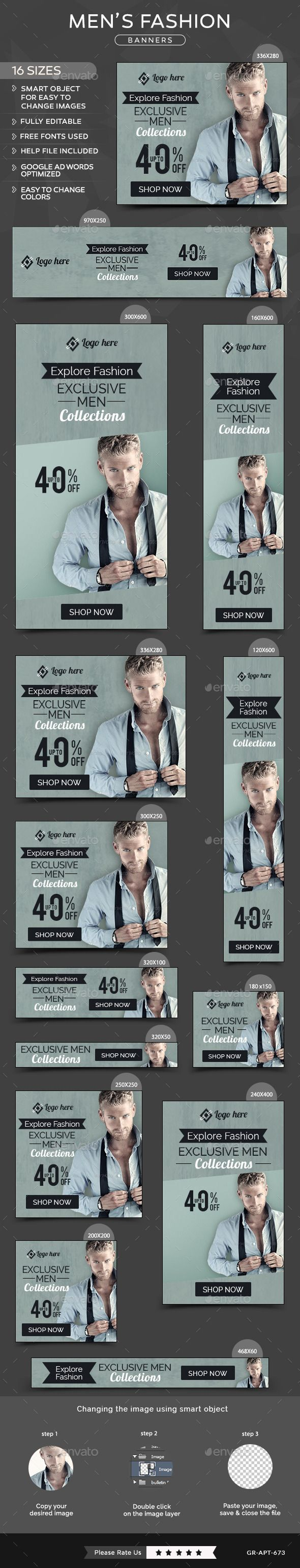 Men Fashion Banners Template #design Download: http://graphicriver.net/item/men-fashion-banners/11738727?ref=ksioks
