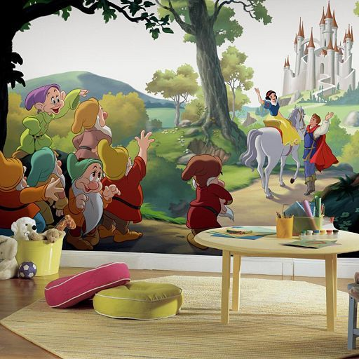 17 best images about princess wall decor on pinterest for Disneyland mural
