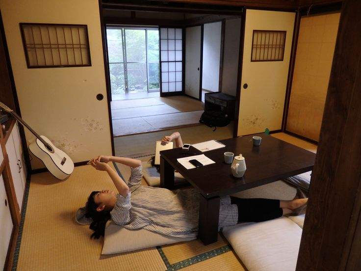 how a traditional tatami-matted common room is used these days (Takayama, Japan)