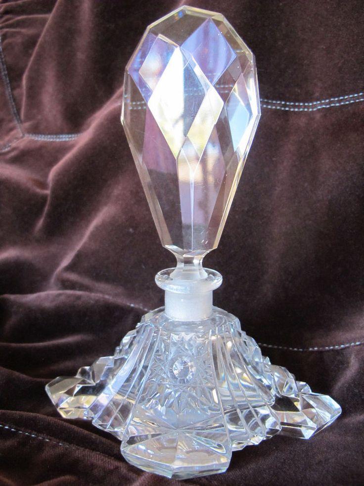 Antique Czech Glass perfume bottle #ArtDeco