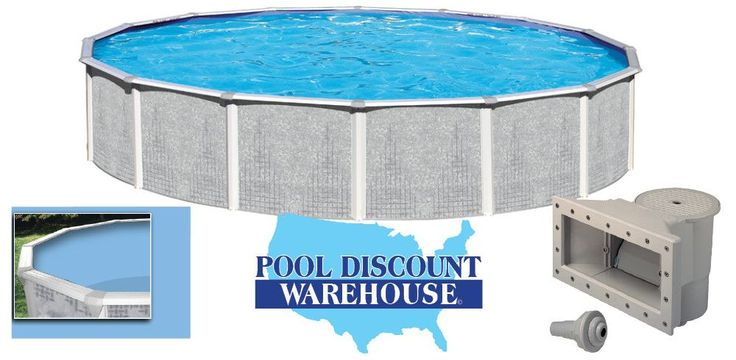 "Made in America! Stay cool and relaxed this summer with your Tango 24 foot Round 52 inches in height Above Ground Pool. Wall Pattern: Grey Millennium Wall Height: 52"" inches Ledge: 7 Dune Crystex Vert"