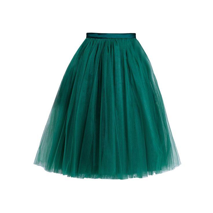 Spódnica tiulowa butelkowa zieleń   Fanfaronada   SHOWROOM