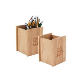 How about your brand logo on these Bamboo Desk Caddy products