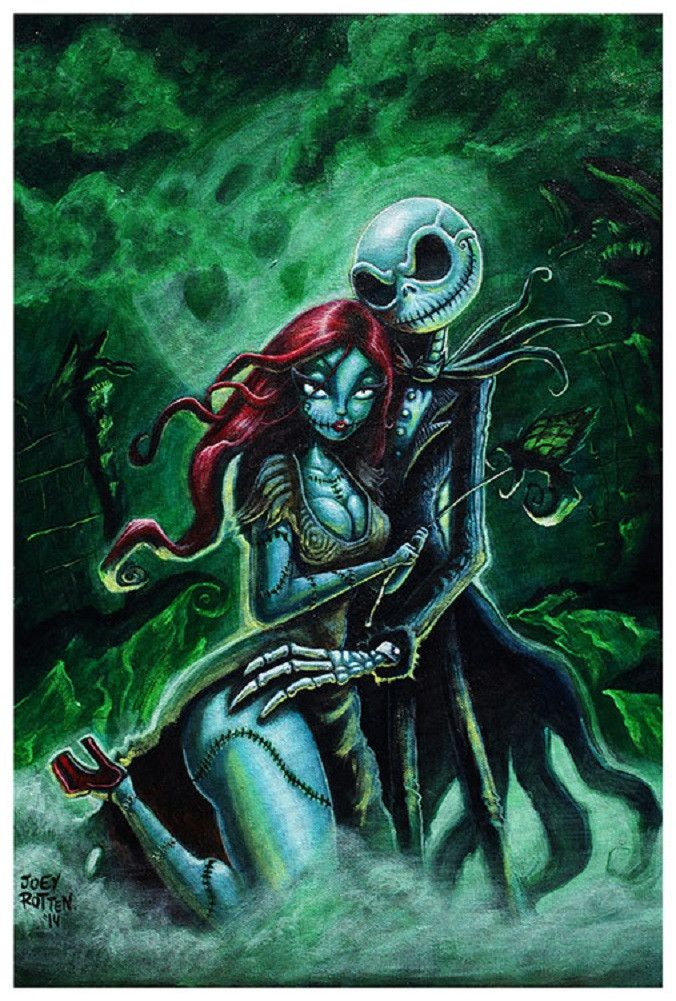 Jack and Sally by Joey Rotten Nightmare Before Christmas Art Print