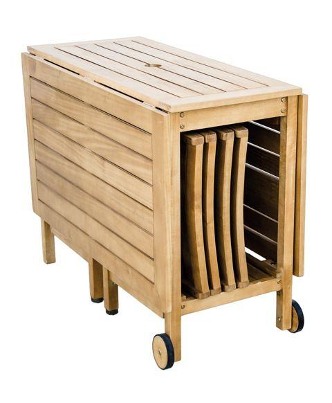 Las 25 mejores ideas sobre mesas plegables de madera en for Mesas de terraza plegables