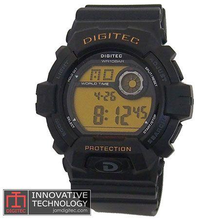 jam tangan digitec DG-2058T hitam amber
