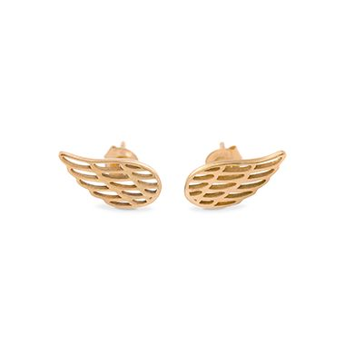 The Wings earrings are an original and elegant accessory. Perfect gift for a friend of for yourself!  Available in gold-plated and silver #lilou #earrings #wing #elegant #perfect