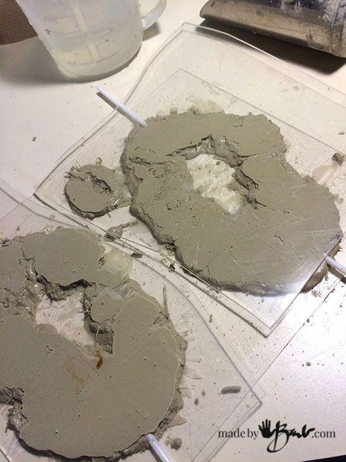 Gestalten Sie Ihre eigenen fantastischen Imitat-Geoden aus Beton, Acrylfarben und Glasschrei