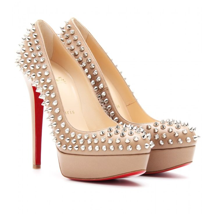 christian louboutin \u0027bianca spikes heels in nude