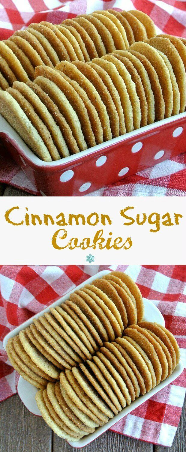 Cinnamon Sugar Cookies sweet goodness makes you smile as you are licking the cinnamon sugar off your lips.
