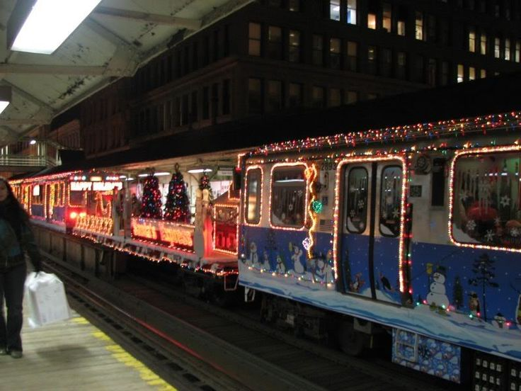 Chicago Christmas train. Holiday Delight :-)