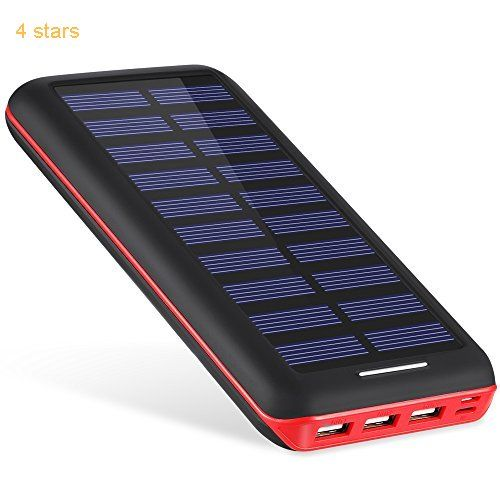 Battery Pack AKEEM Portable Charger 22000mAh External Battery Power Bank with Dual Input Port and Solar Charger3 USB Ports for iPhone iPad Samsung Galaxy Android and other Smart Devices