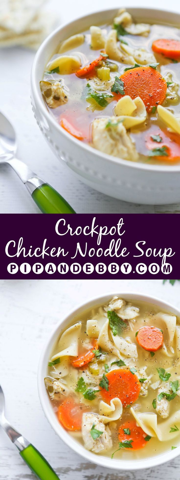 Crockpot Chicken Noodle Soup   Recipe in 2018   Slow Cooker/Crock Pot Recipes   Pinterest   Soup, Noodle Soup and Recipes