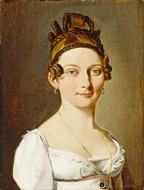Louis-Léopold Boilly (France, La Bassée, 1761 - 1845)  Portrait of a Lady, circa 1800  Painting, Oil on canvas, Framed: 13 3/8 x 11 1/4 x 3 1/8 in. (33.97 x 28.58 x 7.94 cm)  Gift of Marilyn B. and Calvin B. Gross in honor of the museum's twenty-fifth anniversary (M.2003.197.1)  European Painting and Sculpture Department.