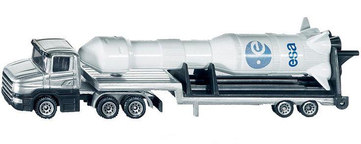 Siku - Diecast Model Car Low Loader with Rocket 1614