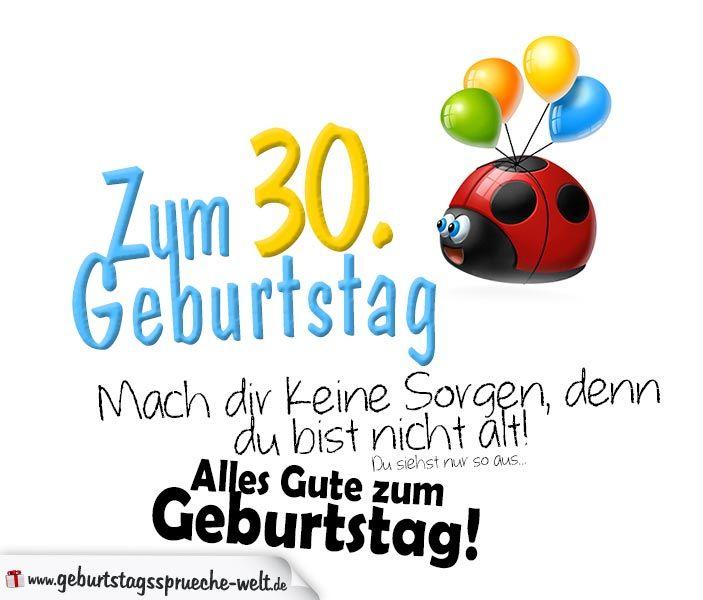 Geburtstagsspruche Zum 30 Geburtstag Gluckwunsche Zum 30
