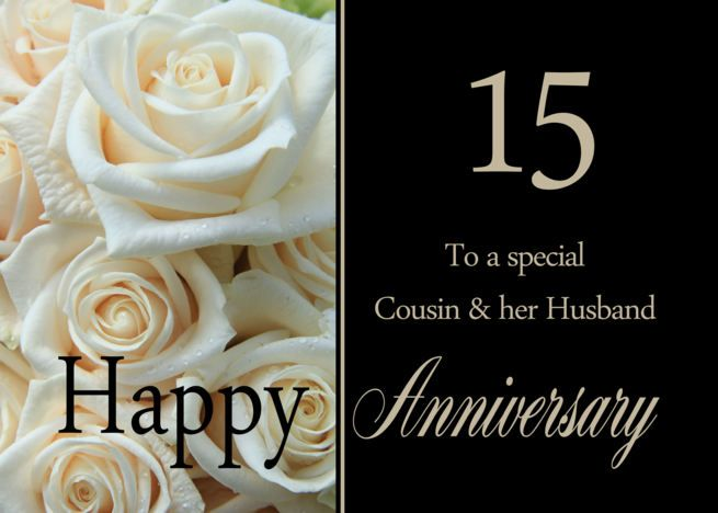 15th Anniversary Card For Cousin Husband Pale Pink Roses Card Ad Sponsored Anniversary Cards For Husband 50th Anniversary Cards 20th Anniversary Cards