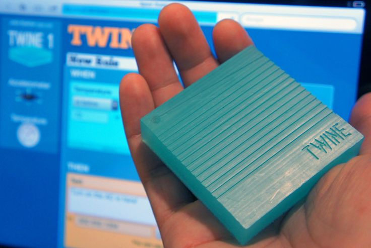 Twine by MIT is a sensor-laden, connected square that can be used to apply yhe internet of things to otherwise dumb household objects.