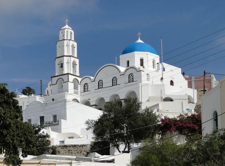 Agios Nikolaos Church, Pyrgos, Santorini, Greece.