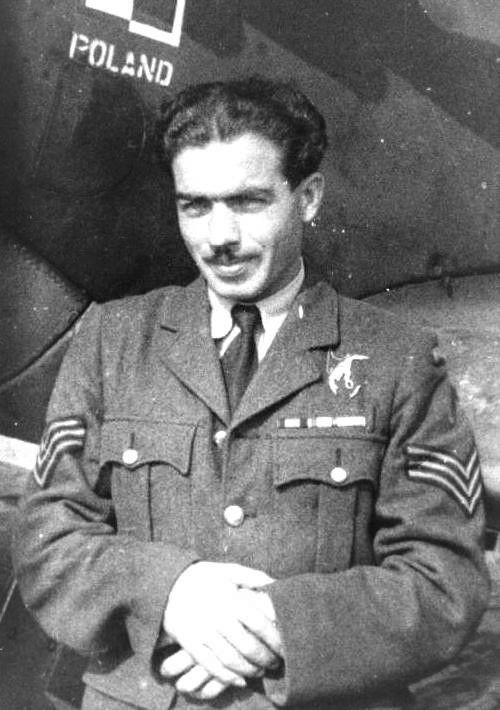 Kapitan (Flight Lieutnant) Adolf Pietrasiak (17 November 1916 - 29 November 1943). Victories: 8 & 1/10 confirmed - 0 probable - 2/5 damaged. Awards: Krzyż Srebrny Orderu Virtuti Militari (The Silver Cross of Virtuti Militari), Krzyż Walecznych (Cross of Valour), Distinguished Flying Medal.