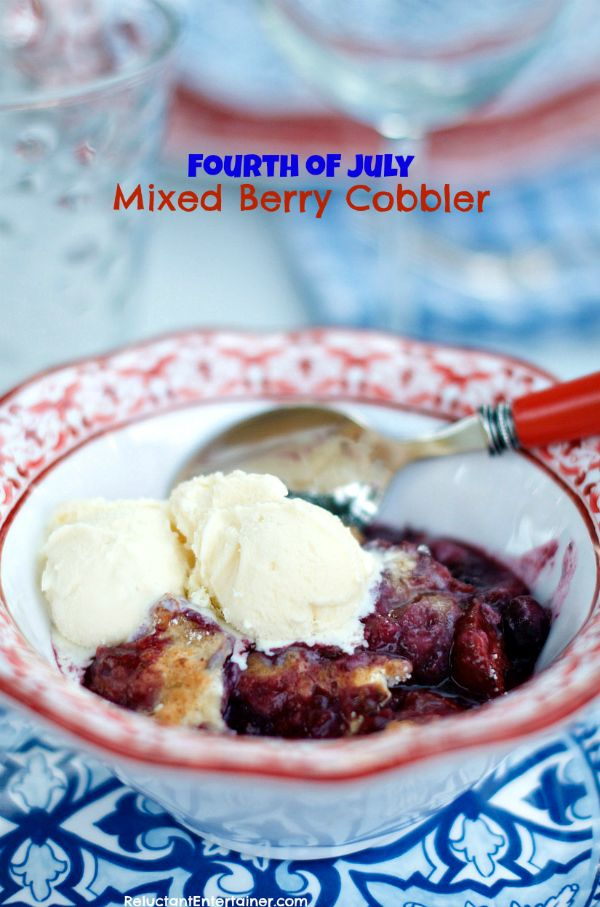 Mixed Berry Cobbler | ReluctantEntertainer