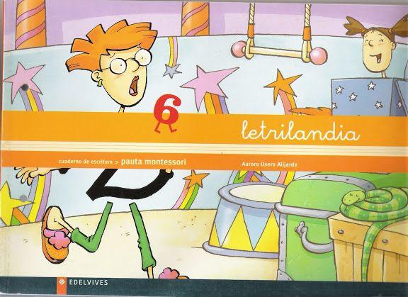 """Recursos didácticos para imprimir, ver, leer: """"Letrilandia"""". Cuaderno de Escritura 6."""