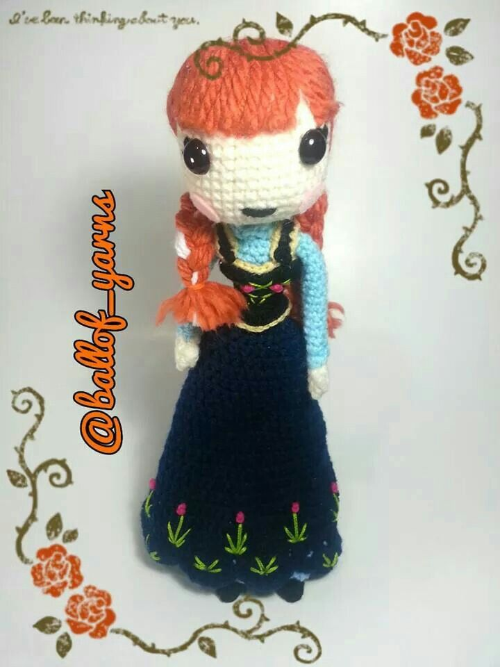 Eager to fall in love, #PrincessAnna of Arendelle from #Disneys #frozen ⛄ Pattern by  epickawaii #amigurumi