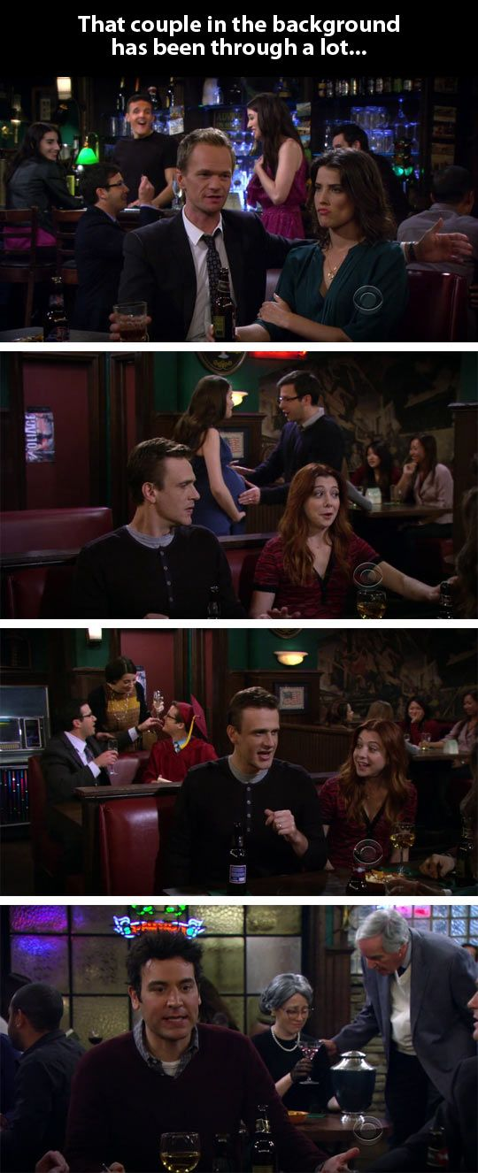 Parallel story in How I Met Your Mother… Haha, I saw this when I was watching that episode haha.
