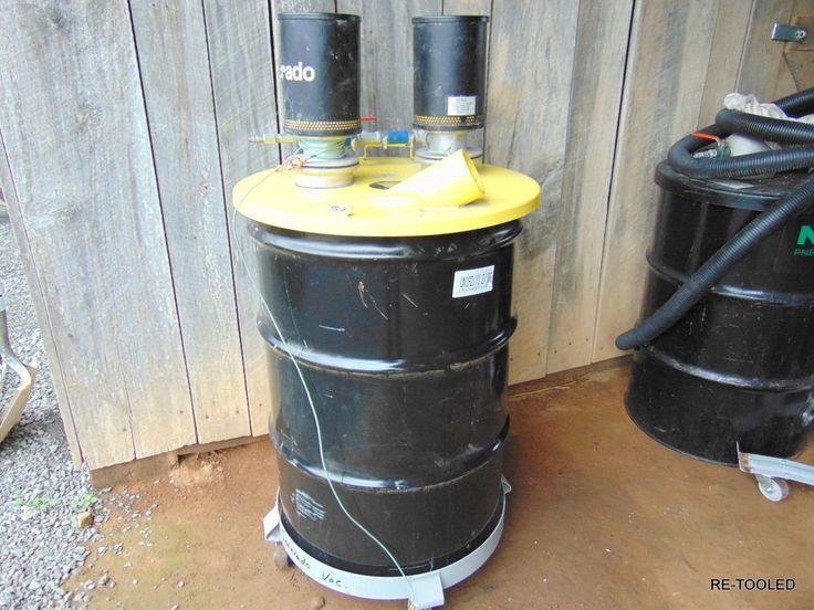 TORNADO JUMBO DUAL WET VACUUM Air Pneumatic Vacuum Cleaner 55 Gallon Drum #TOOLS #TORNADO