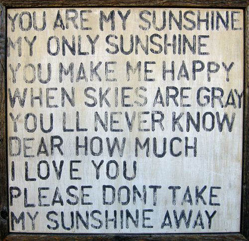 Great piece for a potting shed wall...after all, gardens are all about the sunshine (and rain too...)