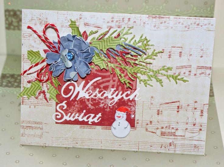 Ręcznie robione-pasje Katki: Kartki świąteczne