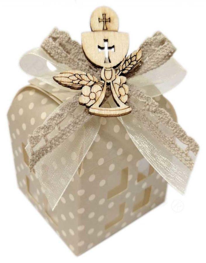 Lanterna in cartoncino con barattolino di cioccolato, gusti a scelta