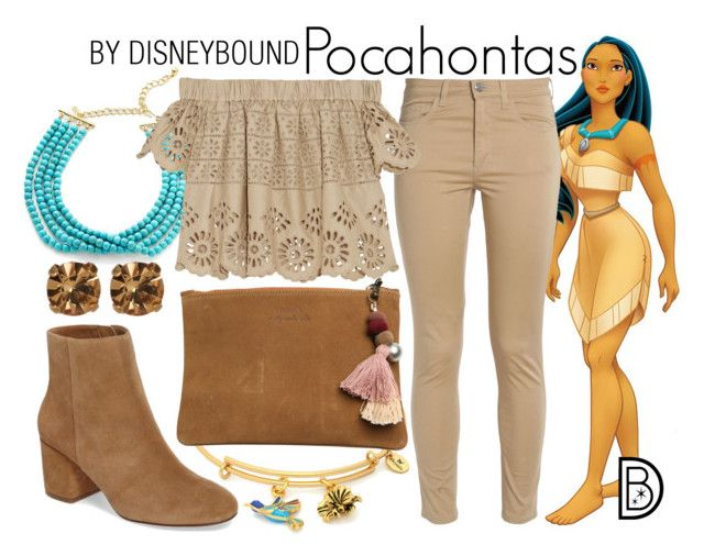 """Pocahontas"" by leslieakay ❤ liked on Polyvore featuring Disney, Kenneth Jay Lane, Acne Studios, Sea, New York, Splendid, Chrysalis, Element, Loren Hope, disney and disneybound"