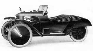 Grand Prix (1926)  Built from 1913-1926.  This model was laid up as a replica of the car, which won the Cyclecar Grand Prix in 1913 in Amiens/France. With OHV J.A.P. engine the maximum speed was claimed to be over 60 mph.