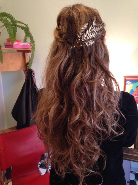 Novia con pelo largo