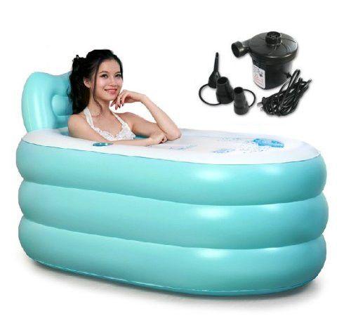 Fashion Adult SPA Inflatable Bath Tub with Electric Air Pump Portable bathtub