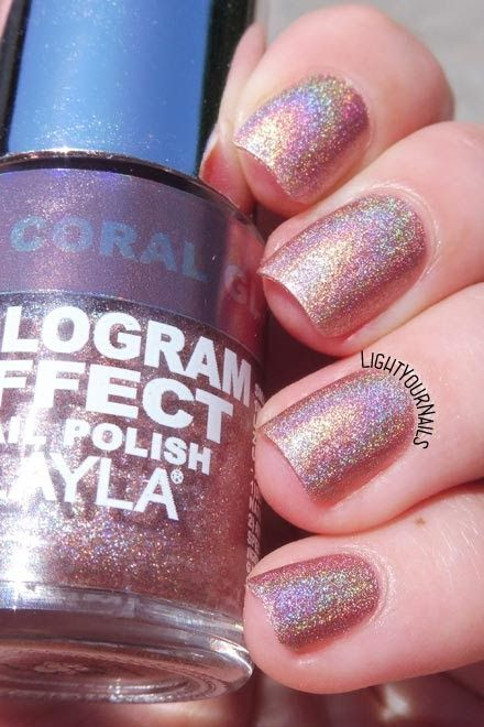 Smalto Olografico Layla Hologram Effect 02 C Glam Holographic Nail Polish Holo Nails Unghie Lightyournails