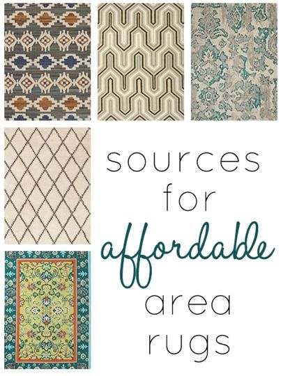 Sources for affordable rugs! I already knew about a few of these places, but I'm interested in seeing what the others have to offer!