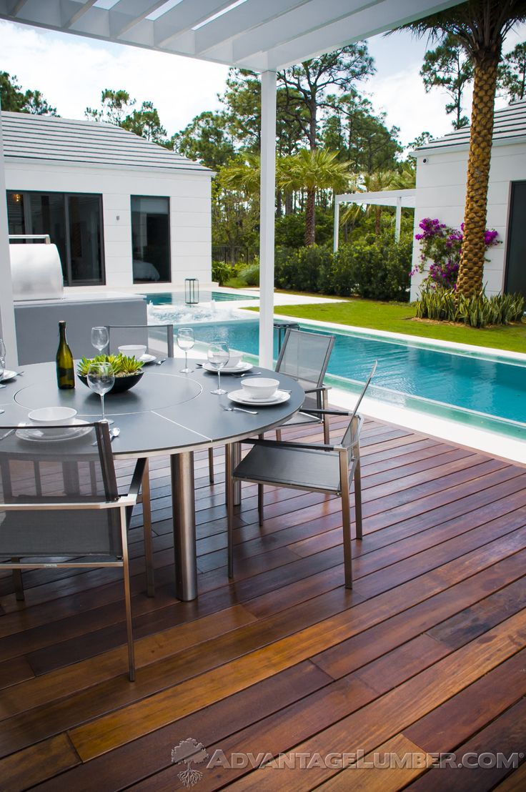 Advantage ipe decking paired with a gorgeous pool is the for Florida pool and deck