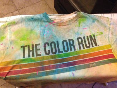 How to save the color in your color run shirts!