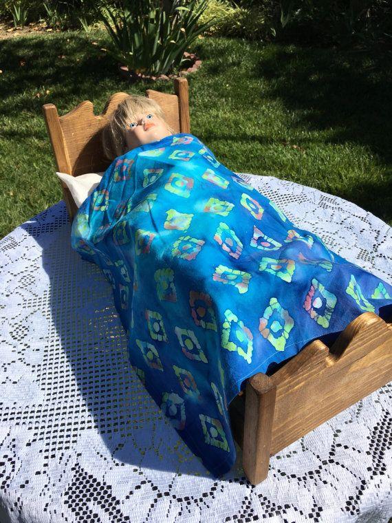 "18"" AG Doll Bedding Tablecloth Rug Flat Sheet Blue"
