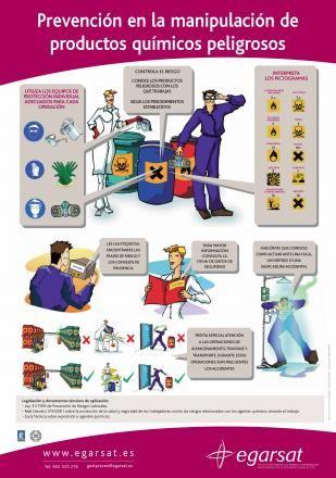 Resultado de imagen para carteles manipulacion de productos quimicos