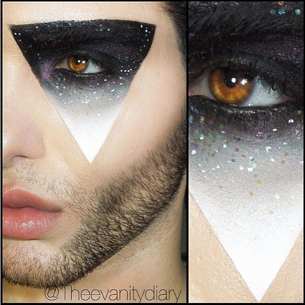 sugarpillmakeup: @Theevanitydiary serving a slice of galaxy! He used #Sugarpill Bulleproof and Tako eyeshadow with #maccosmetics Chromacakes to create the amazing work of art. Wowwwwza!!!