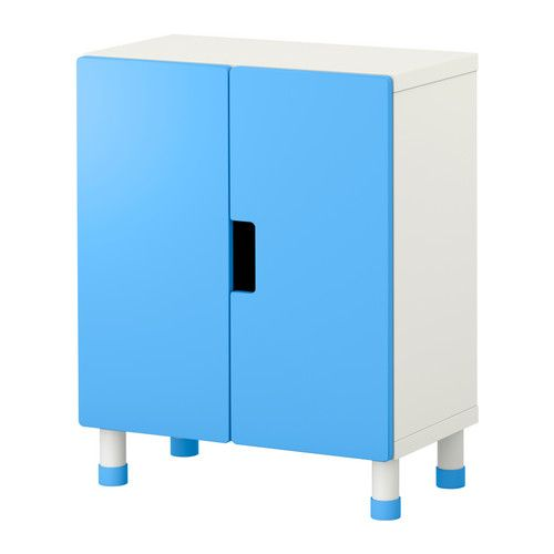 STUVA Storage combination with doors - white/blue - IKEA