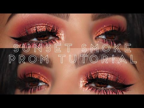 Sunset Smoke || Huda Beauty Rose Gold Palette - YouTube