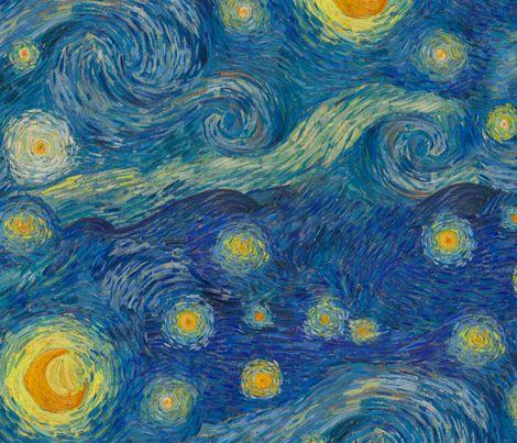 starry, starry, starry night fabric by weavingmajor on Spoonflower - custom fabric