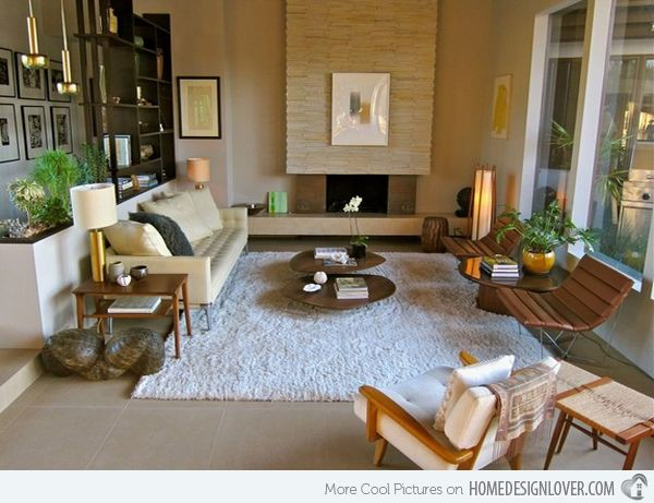 15 Space-Saving and Pretty Sunken Living Rooms